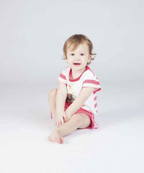 Watermelon Pink Baby and Toddler Girls Shorts (Organic Cotton)