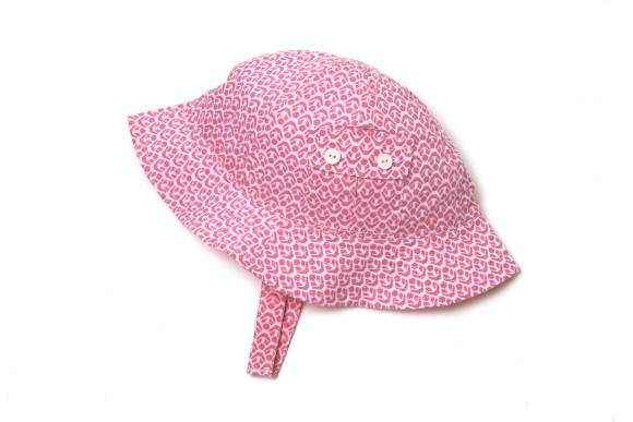 Pink Baby and Little Girls Sun Hat