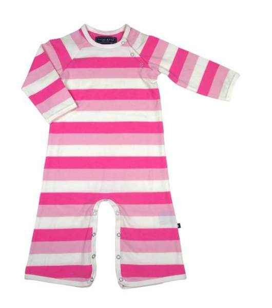 Pink Stripes Long Sleeve Baby Girl Jumpsuit & One Piece Pajamas
