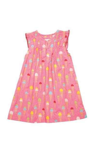 Ice Cream Sleeveless Girls Dress