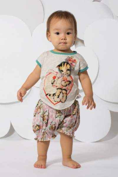 Lollipop Kitty Baby & Toddler Girls Short Sleeve Tee (Organic Cotton)