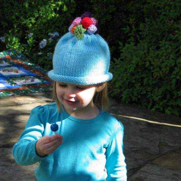 Winkie Knit Baby Girl Hat (American Made) - ONLY ONE LEFT!