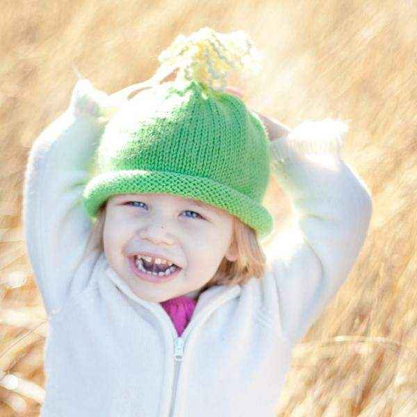 Emma Green Knit Toddler Girls Hat (American Made)