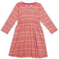 Chevron Long Sleeve Big Girls Dress