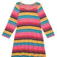 Striped Fall Knit Dress for Girls