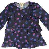 Fall Moon Long Sleeve Little Girls Blouse (American Made)