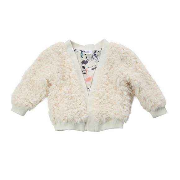 Julia Cream Little Girls Cardigan Jacket