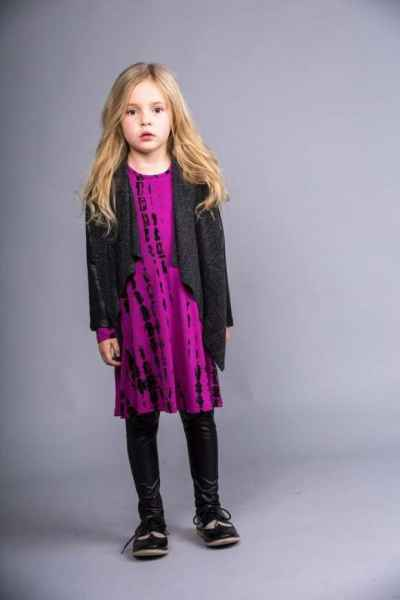Cecile Big Girls Modern Cardigan Jacket (American Made)