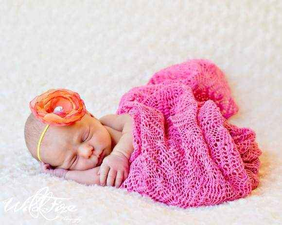 Sophia Baby Girl Organza Flower Headband (American Made)