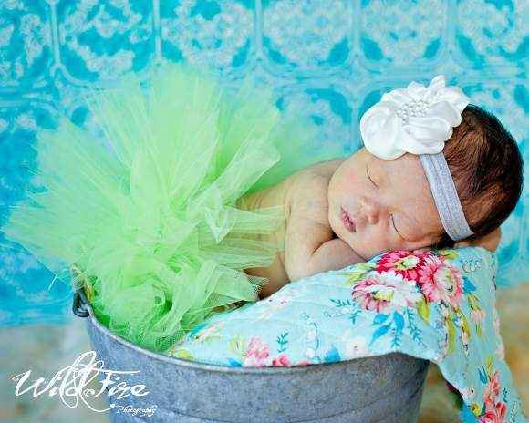 Sassy Green Tulle Baby and Toddler Girls Boutique Tutu