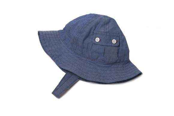 Chambray Baby and Little Kids Sun Hat