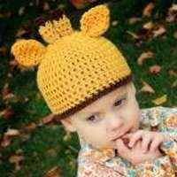 Little Giraffe Child Hat