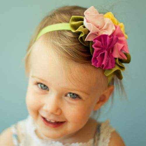 Birthday Sprinkles Girls Soft Flower Headband (American Made)