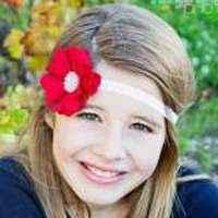 Priscilla Red Girls Soft Flower Headband (American Made)