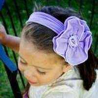 French Lavender Girls Flower Headband (American Made)