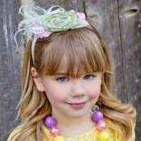 Cecilia Girls Boutique Feather Headband