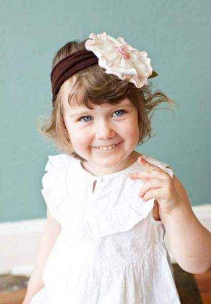 Sweet Magnolia Girls Flower Headband (American Made)