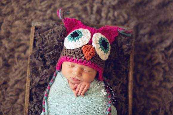 Hot Pink Owl Baby & Toddler Girls Hat