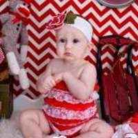 Candy Cane Christmas Girls Lace Ruffle Petti Romper