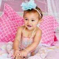 Pink & Aqua Little Girls Lace Ruffle Petti Romper