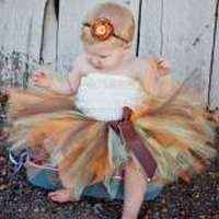 Thanksgiving Tulle Baby and Girls Boutique Tutu (American Made)