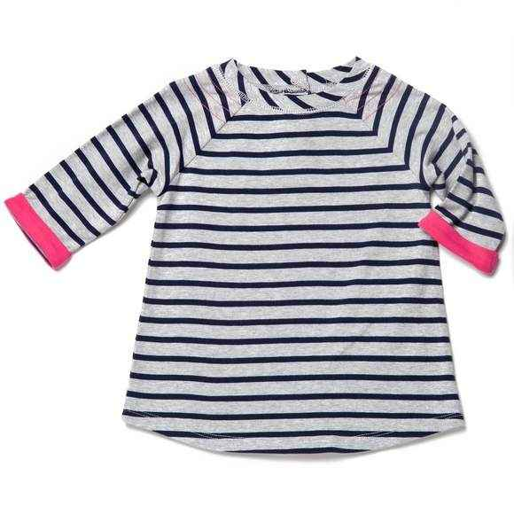 Striped Baby Girl Long Sleeve Tunic Top - ONLY ONE LEFT!