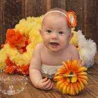 Candy Corn Fall Chiffon Baby and Girls Boutique Pettiskirt