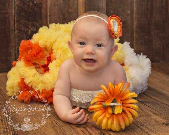 Candy Corn Fall Chiffon Baby & Girls Boutique Pettiskirt