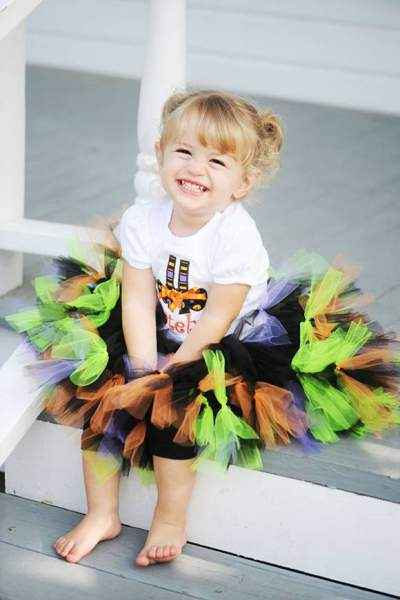 Halloween Witch Tulle Baby and Girls Boutique Petti Tutu Skirt (American Made)