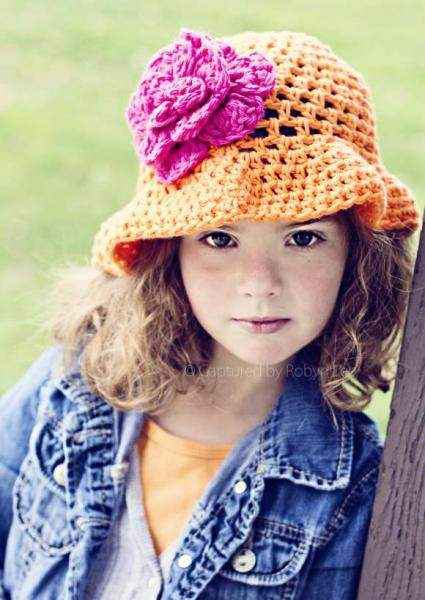 Orange Joy Baby Girl Hat