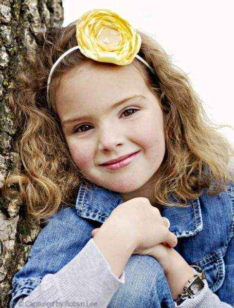 Veronica Girls Yellow Flower Headband (American Made)