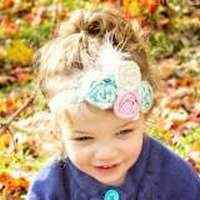 Blanche Girls Shabby Chic Fabric Headband (American Made)