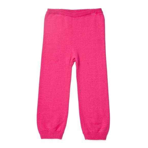 Magenta Sweater Knit Baby Girl Leggings