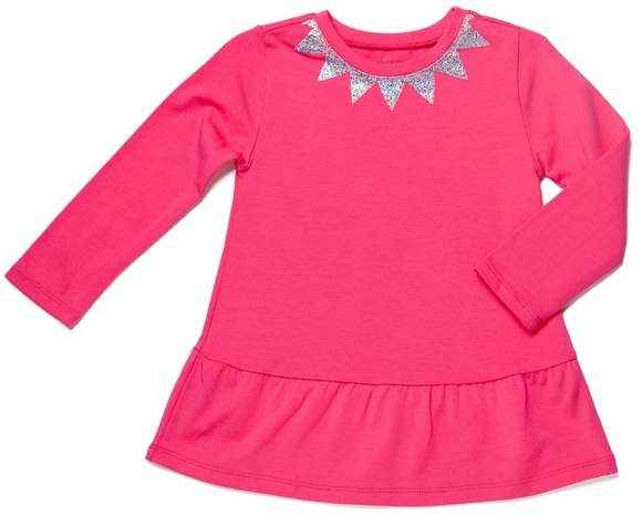 Magenta Baby Girl Long Sleeve Swing Top