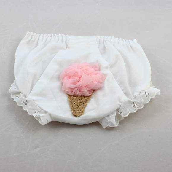 Ice Cream Baby and Toddler Girls Tutu Bloomers and Diaper Cover (American Made)