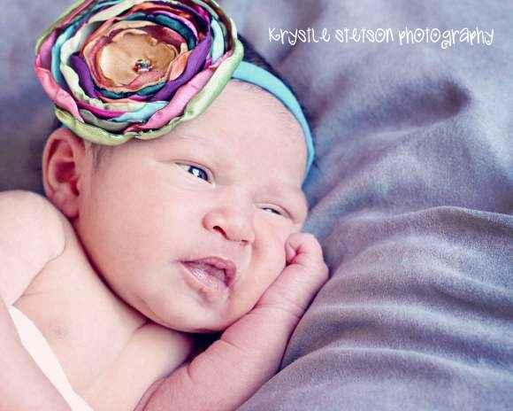 Isabella Multicolor Baby Girl Flower Headband (American Made)
