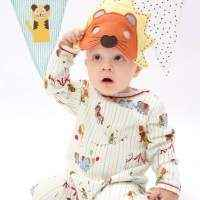 Circus Print Long Sleeve Baby Jumpsuit & Pajamas