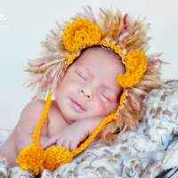 Newborn Baby Lion Hat