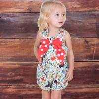 Belezza Sleeveless Baby Girl Bow Romper