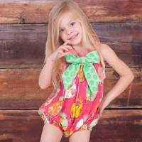 Fiorito Sleeveless Baby Girl Bow Romper