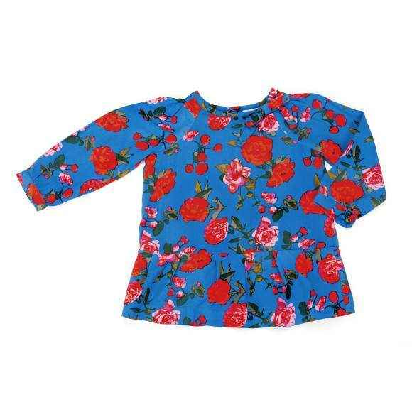 Floral Long Sleeve Baby and Toddler Girls Blouse