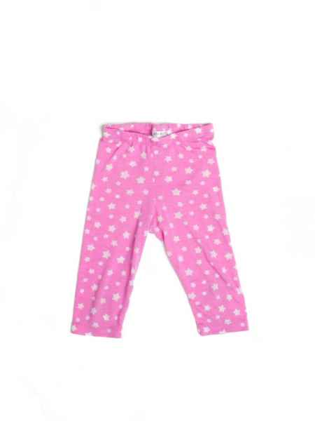 Pink Star Big Girls Short Summer Leggings (American Made)