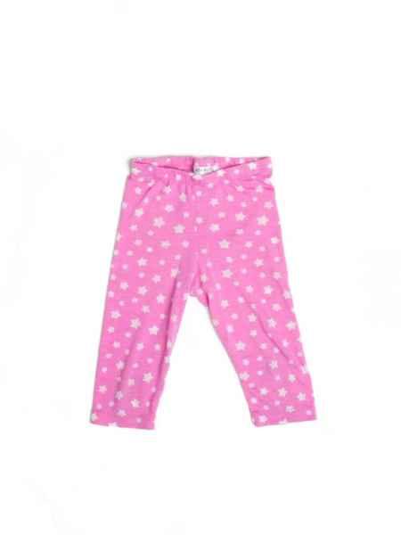 Pink Star Big Girls Short Summer Leggings (American Made)