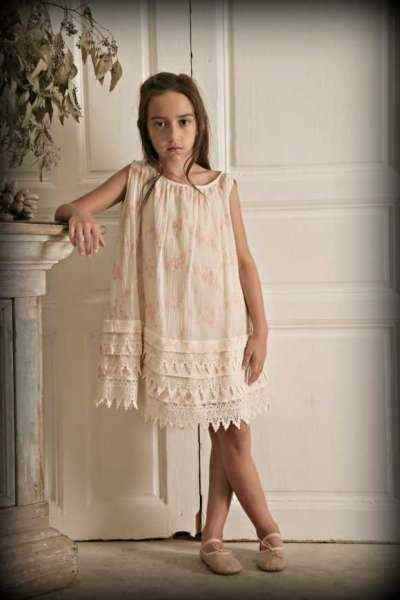 Cream Lottie Sleeveless Boutique Girls Dress (American Made)