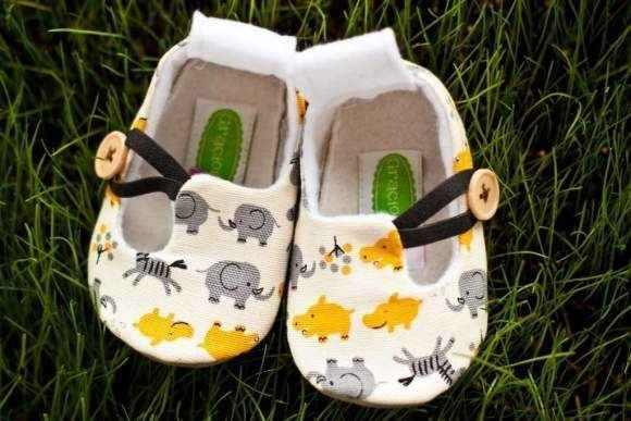Safari Animal Print Baby Loafer Shoes (American Made)