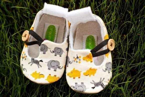 Safari Animal Print Baby Loafer Shoes (American Made)