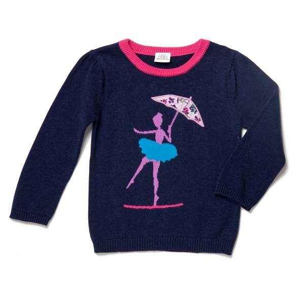Tightrope Ballerina Baby Girl Sweater
