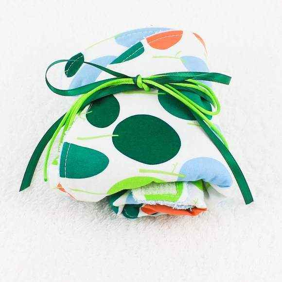 Modern Tree Print Baby Boy Bib & Burp Cloth Gift Set (American Made)