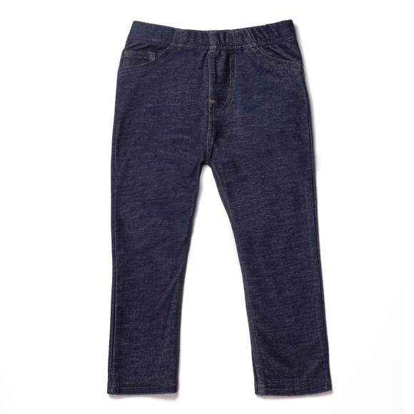 Dark Rinse Denim Baby and Girls Boutique Leggings