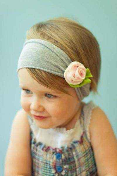 Strawberry Icing Baby and Girls Boutique Flower Headband (American Made)